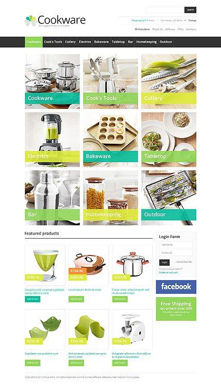 Website Template #webdesign cuisine