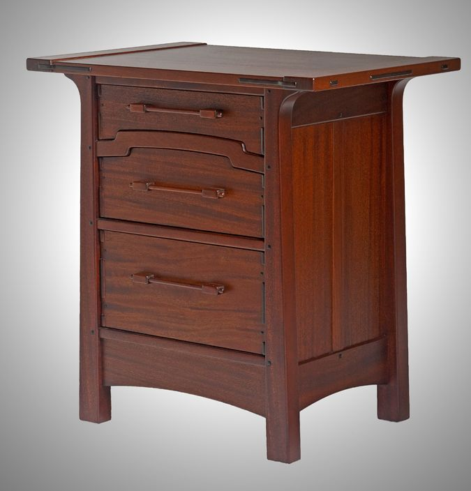 free mission style nightstand plans woodworking projects. Black Bedroom Furniture Sets. Home Design Ideas