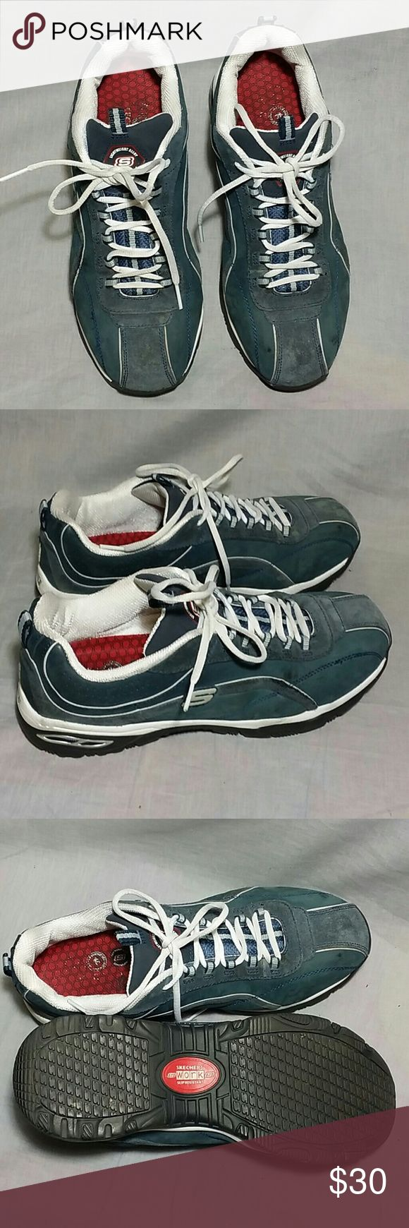 Women's Skechers SAFETY TOE Shoes 9.5 M leather LIGHT WEIGHT ALLOY SAFETY TOE SERIES WORK SLIP RESISTANT, item is in a good condition. NO PETS AND SMOKE FREE HOME. Skechers  Shoes Athletic Shoes
