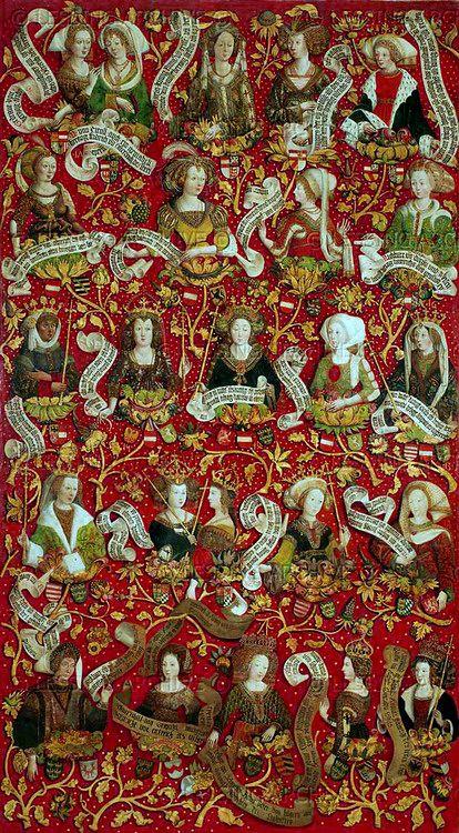Ренет: Бабенбергов Генеалогическое древо Гансом части ,1489-92