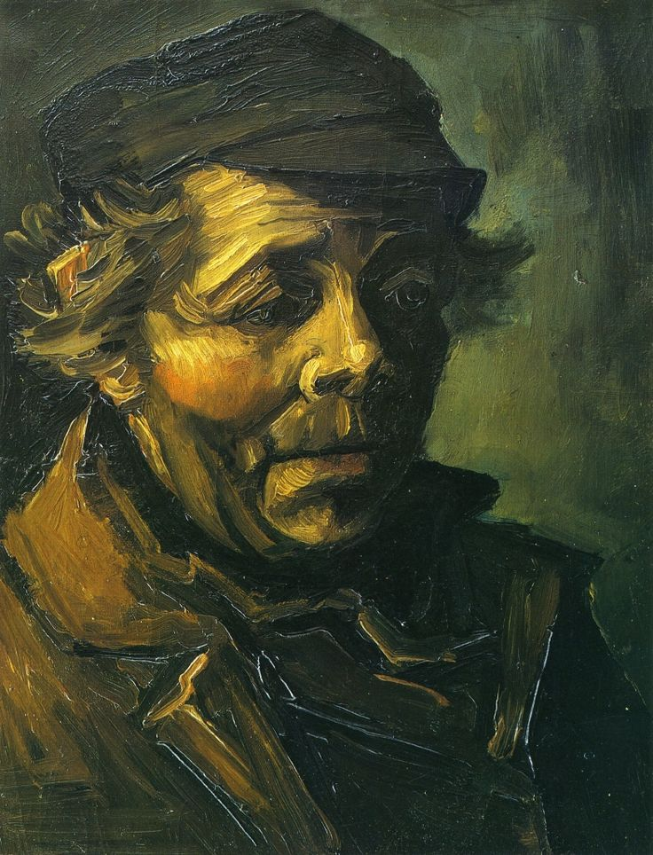 Head of a Peasant (Study for the Potato Eaters)  - Vincent van Gogh