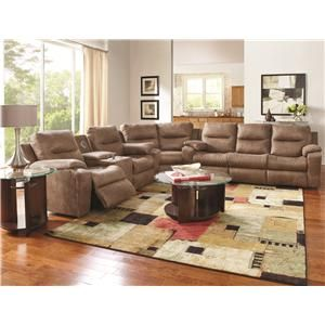 Southern Motion Starship Reclining Sectional With Left