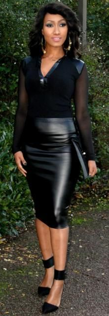 45 best Leather skirt images on Pinterest