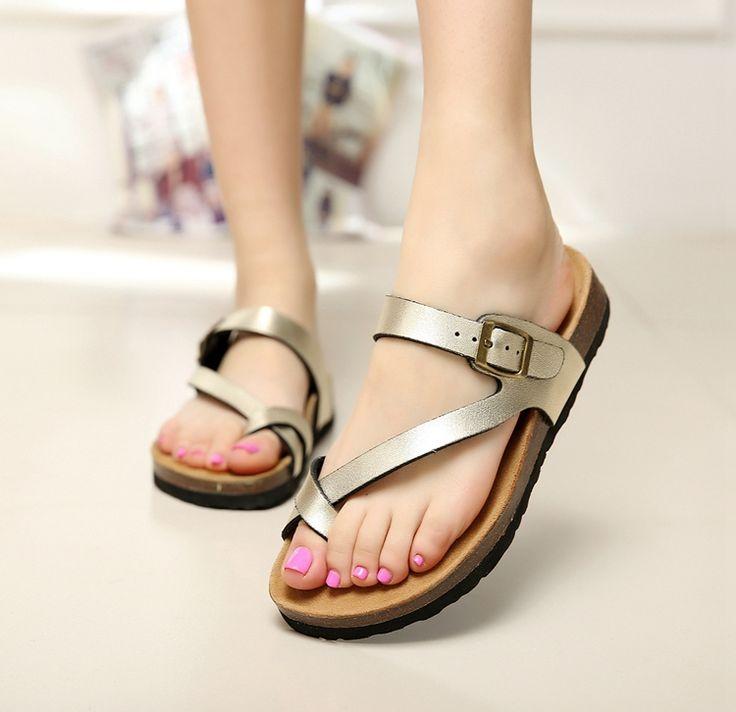 Aliexpress.com: Comprar Mujeres del estilo del verano sandalias 2015 marca sandalias Birkenstock de corcho zapatillas impresión del color mezclado zapatos mujeres hombres flip flop unisex de Sandalias fiable proveedores en WANG YU XUAN's STORE