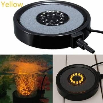 Aquarium Fish Tank Round LED Up Air Bubble Light Lamp Air Stone - US$15.23