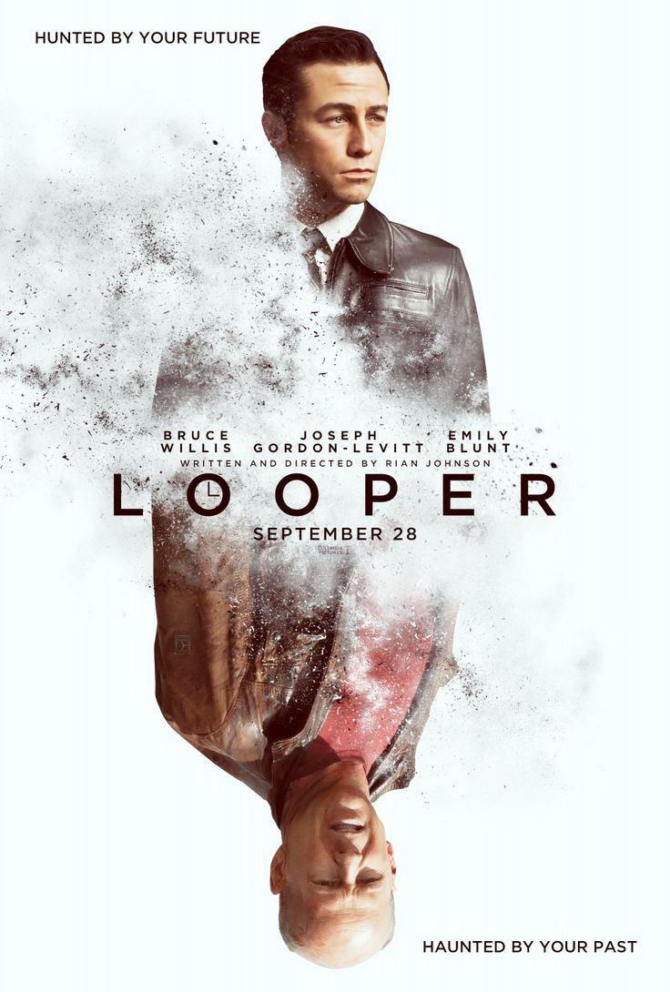 Looper (2012) In 2074, when the mob wants to get rid of someone, the target is sent into the past, where a hired gun awaits - someone like Joe - who one day learns the mob wants to 'close the loop' by sending back Joe's future self for assassination. Joseph Gordon-Levitt, Bruce Willis, Emily Blunt...Sci-Fi
