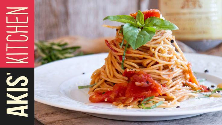 Classic Tomato Spaghetti | Akis Kitchen - YouTube
