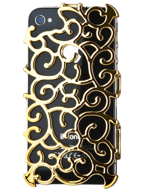 If I ever get an iPhone this will house it // Gold Art Nouveau iPhone 4S Case