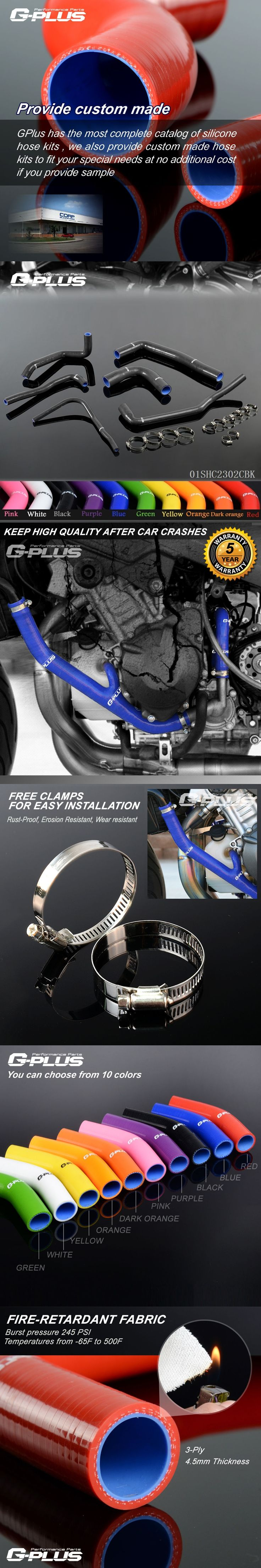 Gplus Silicone Radiator Hose Kit For SAAB 9000 91-98 B204 B234 2.0 2.3 AERO -01SHC2302C