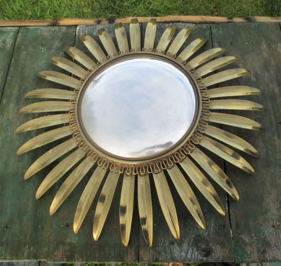 Beautiful French Sunburst Wall Hanging Convex by Tweedeleven