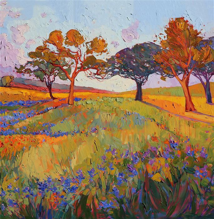 Colors of Brenham - Modern Impressionism | Contemporary Landscape Oil Paintings for Sale by Erin Hanson