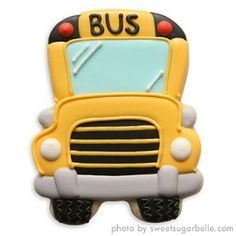 school bus decorated cookies - Google Search