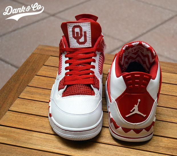 Oklahoma Sooners Air Jordan IV Shoes by
