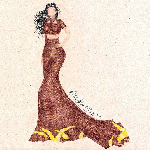 Inspired by Kim Kardashian #KimKardashian #FashionIllustration #Croqui