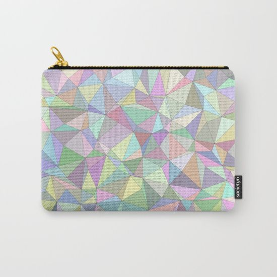 Happy triangles Carry-All Pouch by David Zydd Patterns & Geometric Designs | Society6