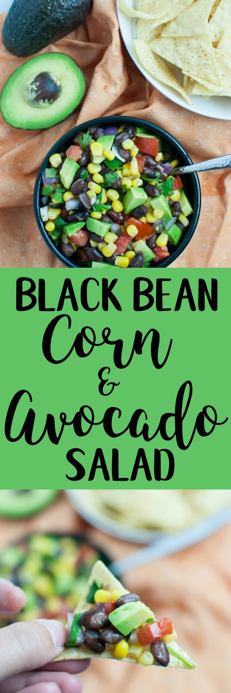 Black Bean, Corn & Avocado Salad