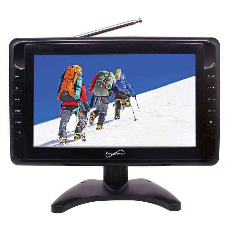 """Supersonic 10"""" Portable LCD Television with Built-in Digital TV Tuner"""