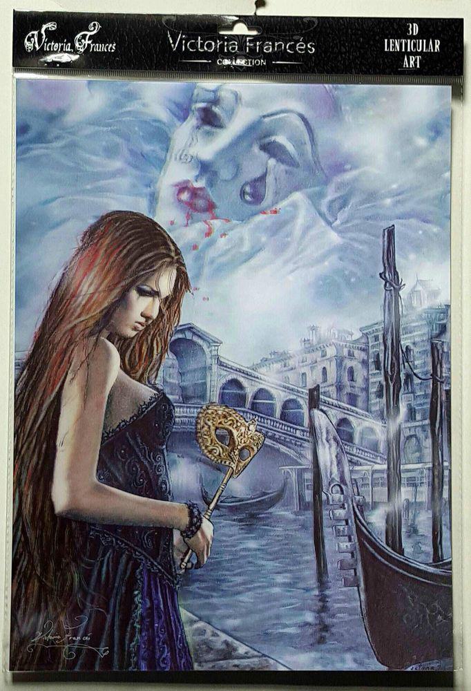 Brand New Licensed 3D Lenticular Victoria Frances EL HADA DE VENECIA Gothic Art