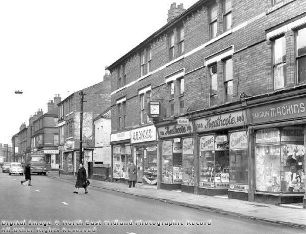 Looking along the road towards Beaconsfield Street and Lloyd's Bank.