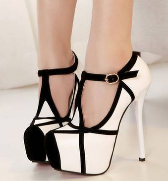 "Gender: Women Item Type: Pumps Toe Style: Closed Toe Shoe Width: Medium(B,M) Platform Height: 5 cm Closure Type: Buckle Strap Toe Shape: Round Toe Upper Material: Suede Heel Height: High (3"" and up) S"
