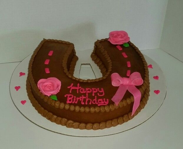 Cowgirl Horseshoe Birthday Cake - Cakes By Jenna