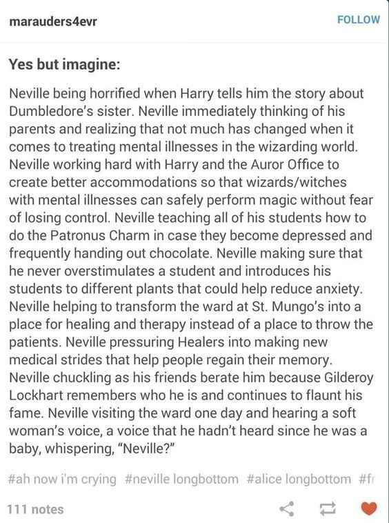 This wonderful prediction of Neville's future.