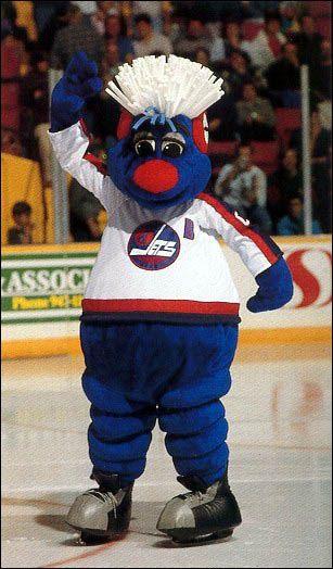 "Meet Benny, the old Winnipeg Jets mascot. ( ...via Alexia Karman's ""hockey love"" board)"