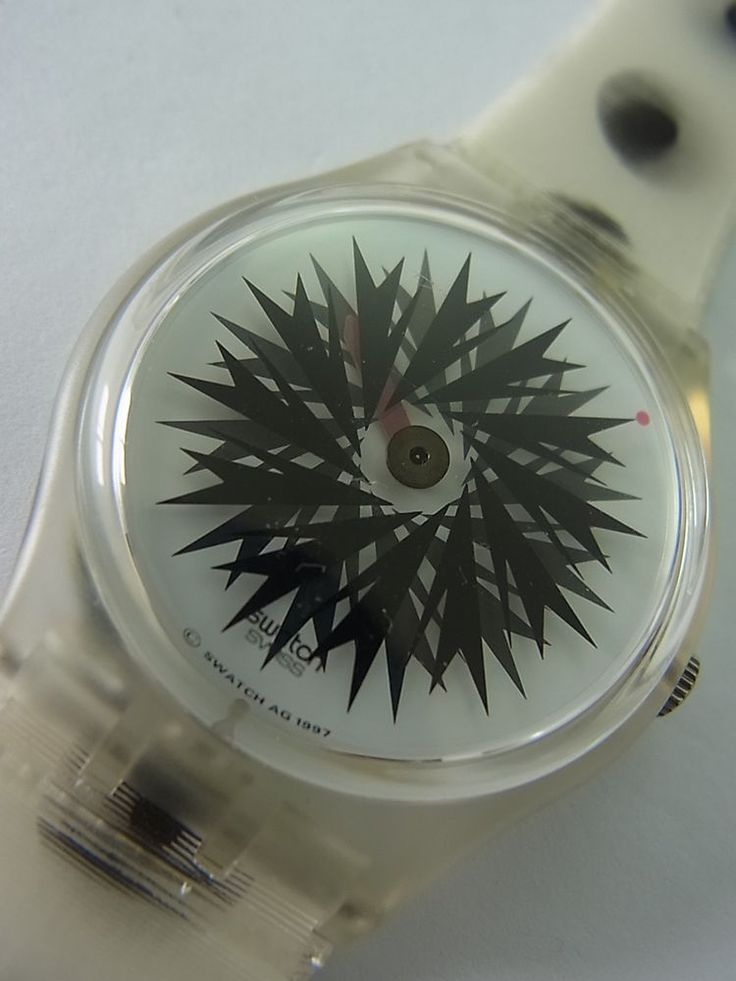 GK275 Swatch 1998 Migraine Black White Swiss Made Authentic New Working Battery #Swatch #Fashion