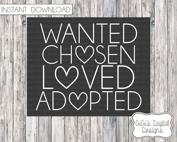 WANTED//CH<3SEN//L<3OVED//AD<3PTED