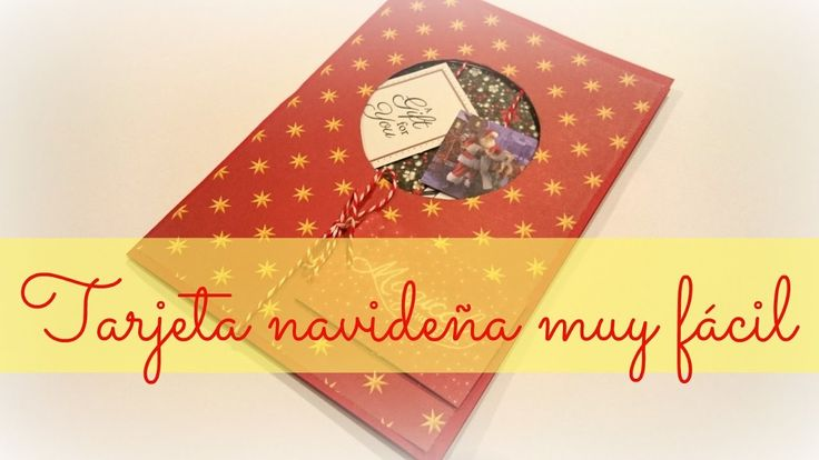 Tarjeta navideña con colgantes #diy #Navidad #Manualidades