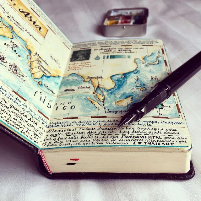 José Naranja – Map journal page