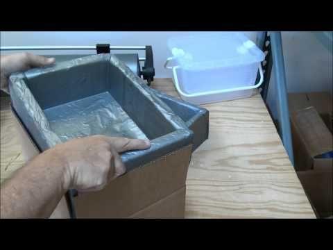 Making a custom foam cooler using Instapak foam Ship Frozen Using Dry Ice CO2 - YouTube