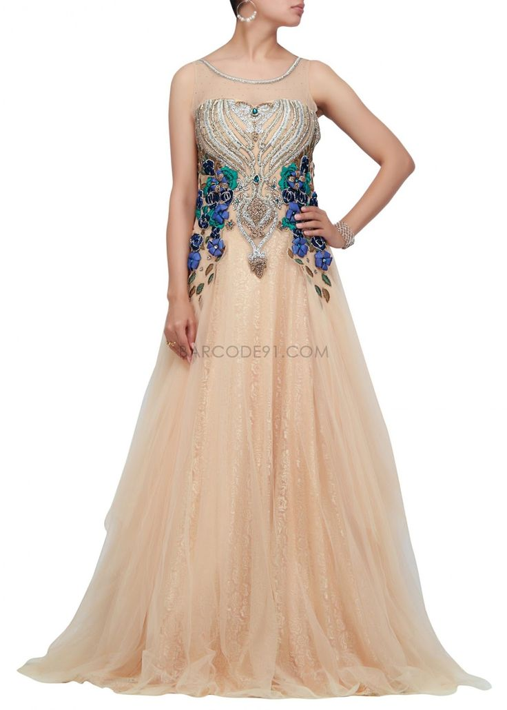 Indowestern Gowns/Lehengas for an Indian bride, gown for reception 2013
