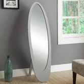 Found it at Wayfair - Contemporary Oval Cheval Mirror