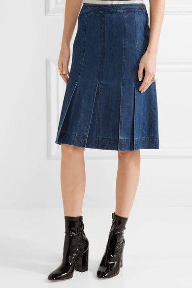 Michael Kors Collection - Denim Skirt - Mid denim - US14