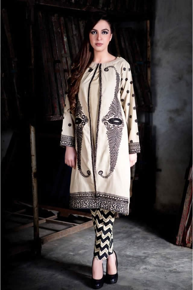 Latest dresses designs 2017 images for women by Gul Ahmed
