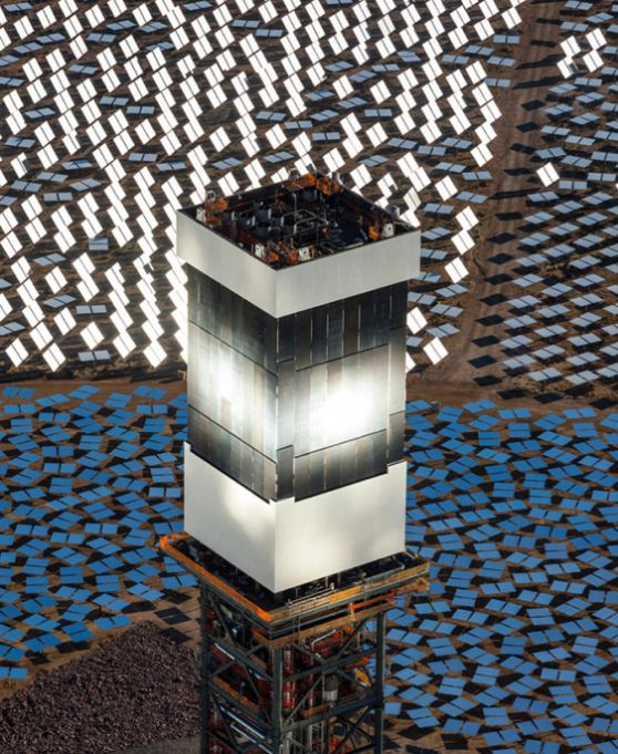 Cool article about the worlds largest solar power plant turning on the facility covers about five square miles of federal land near Ivanpah, California,