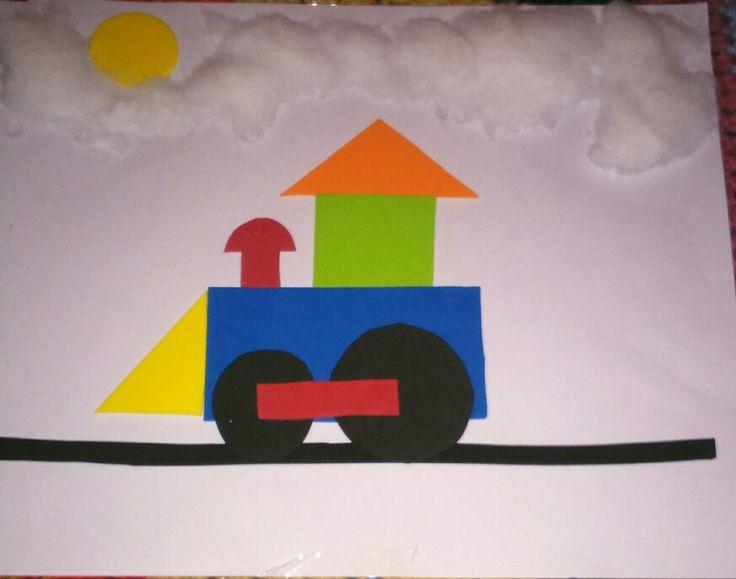 Tren goma eva y algodón