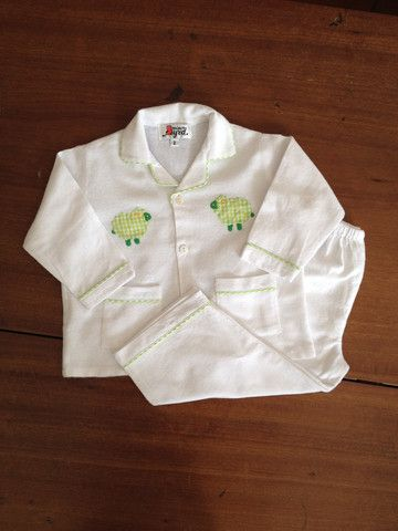 Green Sheep Flannelette Pyjamas – minorbyrd.com.au
