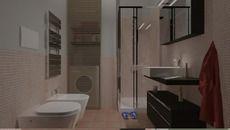 3D Model of bagno con mosaico