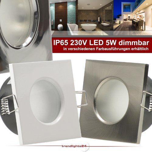 2er Set (1-5er Sets) Decken Einbaustrahler Bad AQUA BASE IP65 quadratisch eckig 230V WEISS; COB LED 5,5W = 60W DIMMBAR; GARANTIE 4 Jahre*; Warm-Weiß; Einbauleuchte für Feuchtraum + Außen - http://led-beleuchtung-lampen.de/2er-set-1-5er-sets-decken-einbaustrahler-bad-aqua-base-ip65-quadratisch-eckig-230v-weiss-cob-led-55w-60w-dimmbar-garantie-4-jahre-warm-weiss-einbauleuchte-fuer-feuchtraum-aussen/ #BadEinbauleuchten