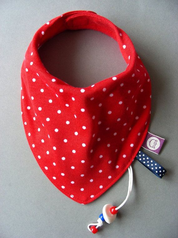 "Baby bib Dribble bib Drool Bib Bandana bib - Stylish absorbent accessory Gift for baby and toddler   ""Strawberry"""
