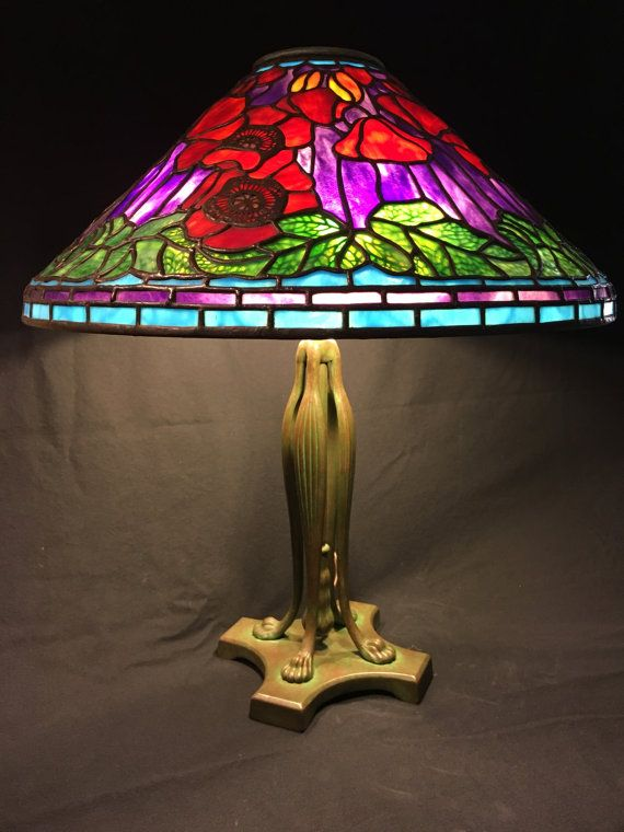 ... of a Tiffany design stained glass lamp by Coughran Studio