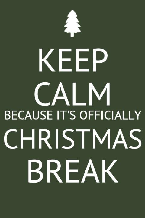 Keep Calm. It's Christmas break! | words | Pinterest ...