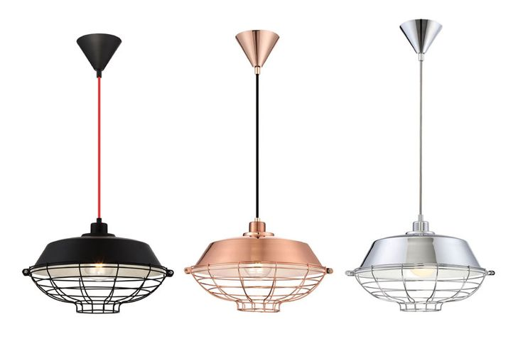 Luminaires suspendus LONDON de Eurofase. Disponibles en noir, cuivre ou chrome. En vente chez INTER Luminaires.