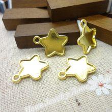Оптовая продажа 65 шт. старинные подвески звезда кулон позолоченные Fit браслеты колье DIY металл изготовление ювелирных изделий(China (Mainland))