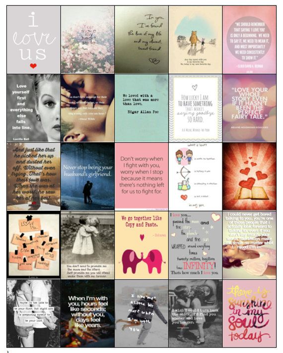 This listing is for 1 (one) PDF file of 25 different Love quotes/images that fit perfectly into your Erin Condren Life Planner boxes.They