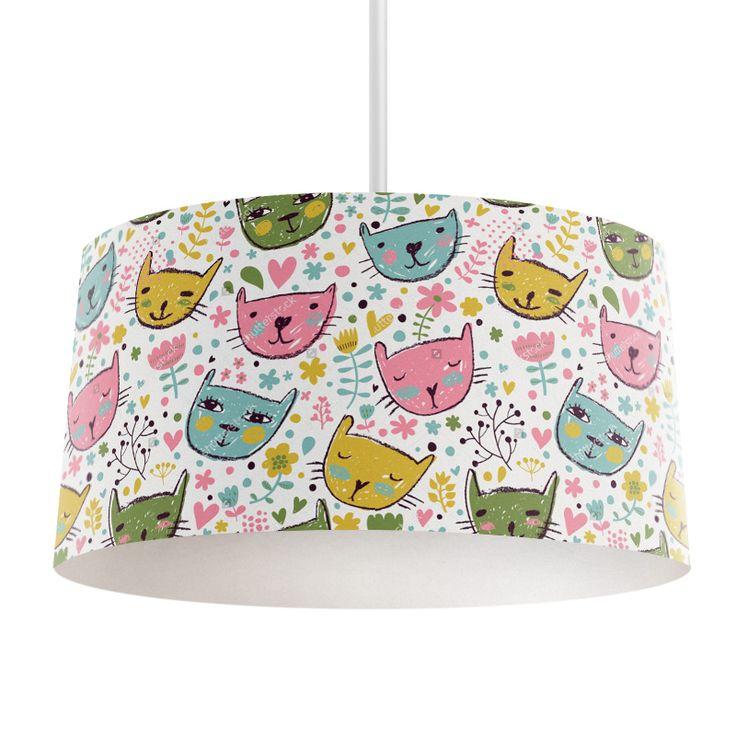 Lampenkap Getekende katjes   Bestel lampenkappen voorzien van digitale print op hoogwaardige kunststof vandaag nog bij YouPri. Verkrijgbaar in verschillende maten en geschikt voor diverse ruimtes. Te bestellen met een eigen afbeelding of een print uit onze collectie. #lampenkap #lampenkappen #lamp #interieur #interieurdesign #woonruimte #slaapkamer #maken #pimpen #diy #modern #bekleden #design #foto #katten #kat #kunst #art #modern #meiden #meisje #meisjeskamer #artistiek #meidenkamer