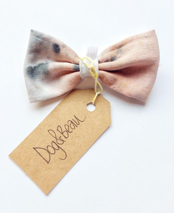 dog bow tie, tie dye bow tie, doggy bow tie, detachable bow tie, pet bow tie, bowties for dogs, pink dog bow tie, gifts for dogs by DogandBeau on Etsy