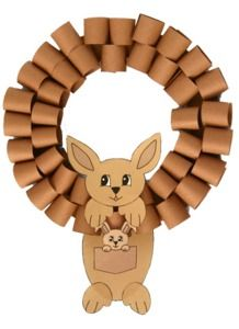 Australian Animals wreath / printable ~ did this, turned out fab!